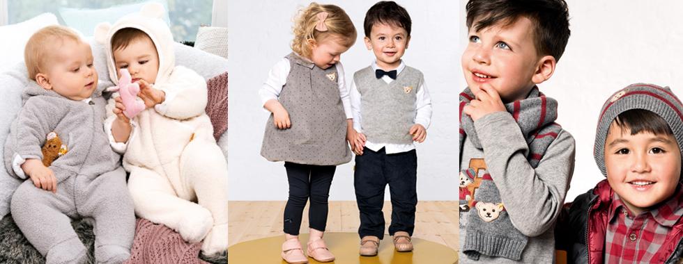 Steiff Babymode ist elegant, sportlich und ebenso anmutig.