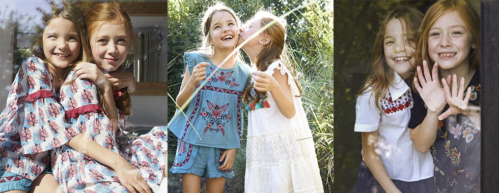 Derhy Kids – Romantische, böhmische und ethnische Kleider für Mädchen